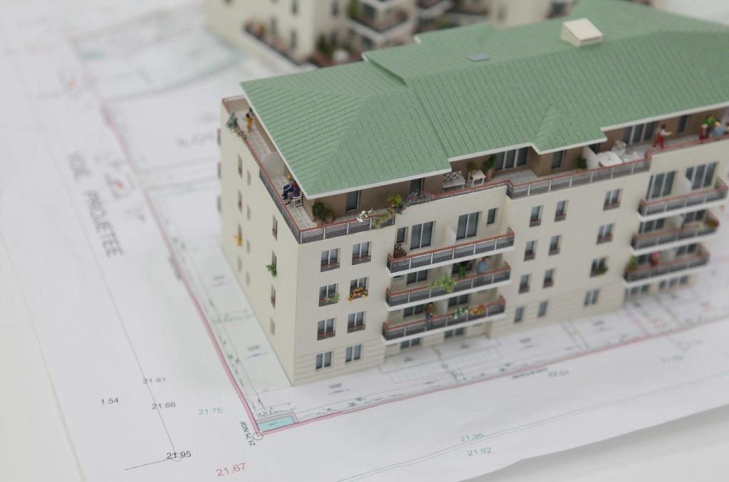 maquettes architecture promotion immobilière