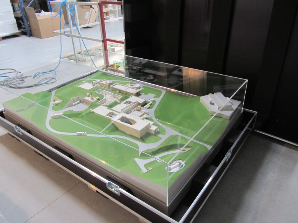 maquette de site industriel
