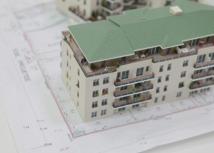 Maquette de promotion immobilière Atelier Pras