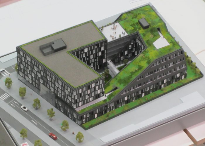 Maquette de promotion immobilière francilienne par Atelier Pras