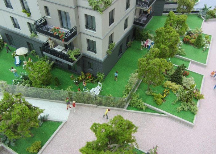 Maquette de promotion immobilière par Atelier Pras