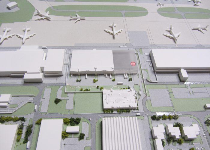Maquette de site aéroportuaire par Atelier Pras