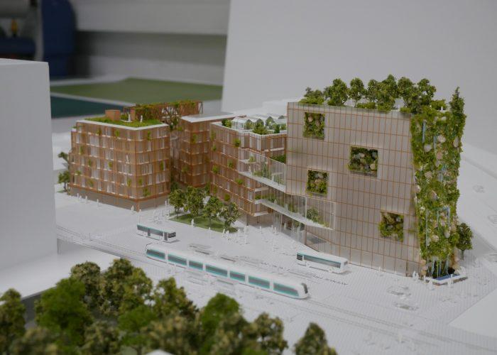 Maquette pour programme immobilier parisien par Atelier Pras