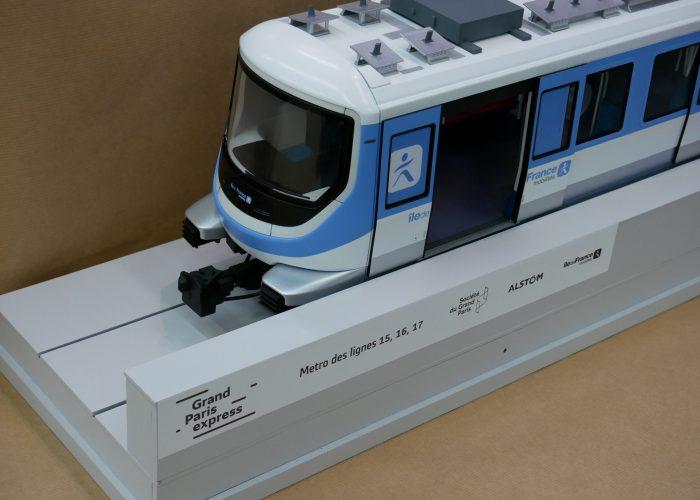 Grand Paris Express Métro lignes 15, 16, 17 échelle 1/20°